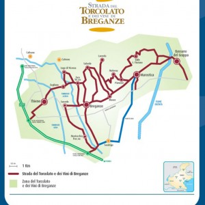From Thiene to Bassano along the  'strada del torcolato' wine route